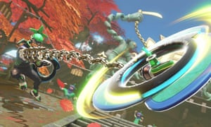 Each character in Nintendo Arms offers a range of combat techniques. Players earn XP through play which can be used to upgrade your arsenal