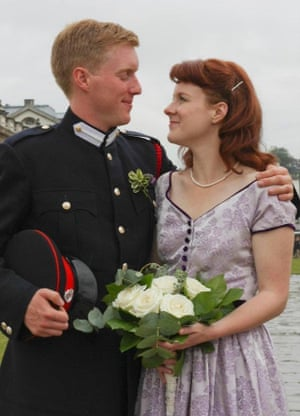 Todd Nimigon and Kaitlyn Bell on their wedding day