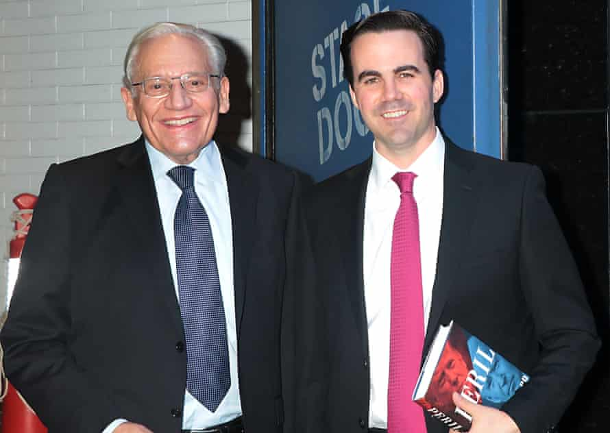 Robert Costa, right, with his co-author and fellow Washington Post reporter Bob Woodward.