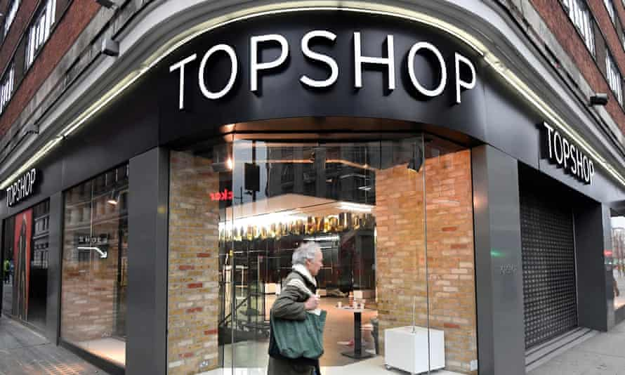 A closed branch of Topshop in London.