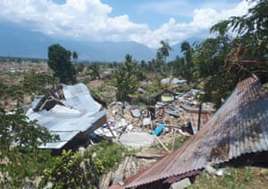 The ruins of a home in Petobo village, Sulawesi.