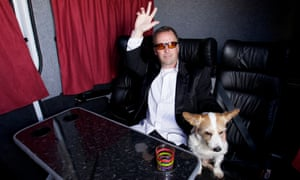 Works his material like a defence lawyer … Doug Stanhope in his tour minibus in 2012.