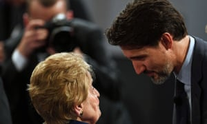You'd better listen. Madeleine Albright talks with Canadian PM Justin Trudeau at a conference in Munich, Germany last month.