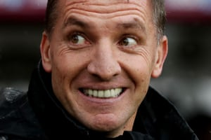 March 16: Leicester City manager Brendan Rogers is all smiles as his side face Burnley.