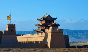 Jiayuguan, the fortress at the western end of the Great Wall, China.