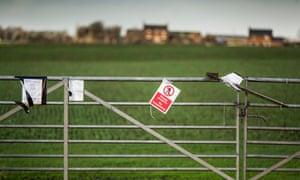 A farmer's field near Preston New Road, where Cuadrilla plans to frack for shale gas.