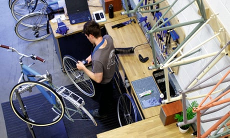 Pedal power: behind the scenes at Bristol's Temple Cycles – in pictures