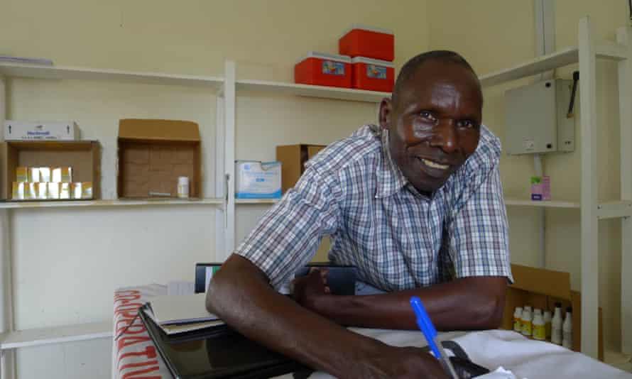 John Opio, manager of the produce store in Katine, Uganda