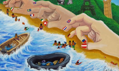 'We never chose this': refugees use art to imagine a better world – in pictures
