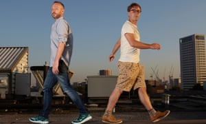Simon Ratcliffe (left) and Felix Buxton of Basement Jaxx who perform after racing at Ascot today.