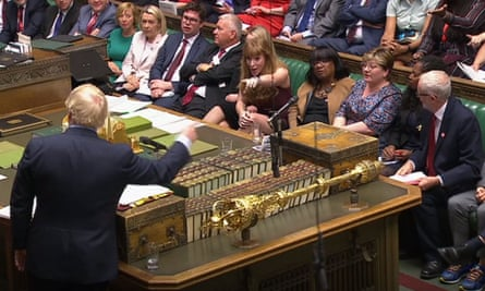 Facing Boris Johnson in the House of Commons.