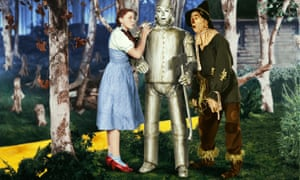 Garland, Ray Bolger and Jack Haley in The Wizard of Oz, 1939