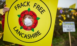 Frack Free Lancashire protestors