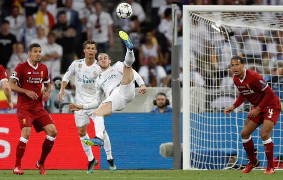 گرت بیل در فینال لیگ قهرمانان 2018 با یک ضربه سر فوق العاده و خیره کننده برای رئال مادرید گلزنی کرد.