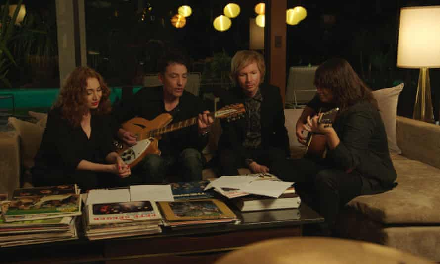 From left: Regina Spektor, Jakob Dylan, Beck and Cat Power in Echo in the Canyon.