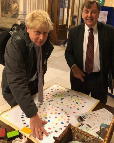 Leaves his mark … Boris Johnson.