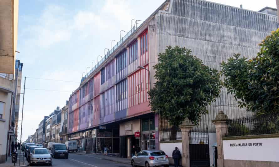 The Centro Comercial Stop music studio complex on Rua do Heroísmo, Porto.