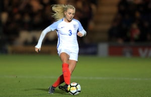 Alex Greenwood in action for England last year.