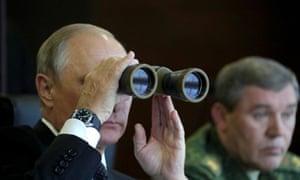 Putin observes the Zapad 2017 military exercise
