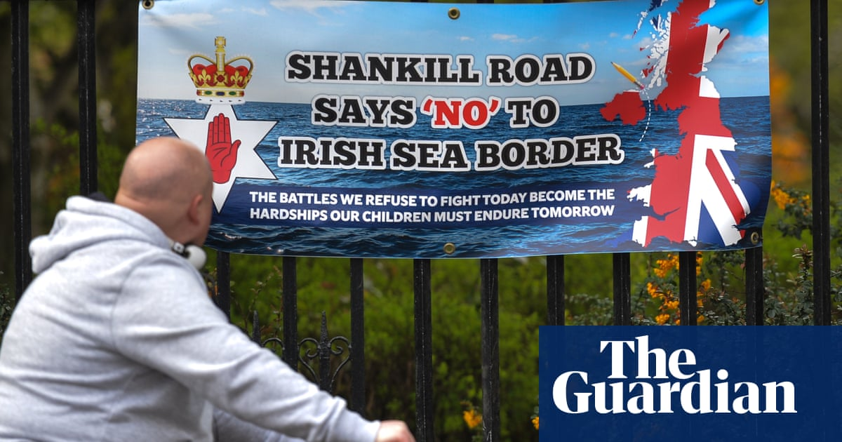 Thousands gather in Belfast to protest against Northern Ireland protocol