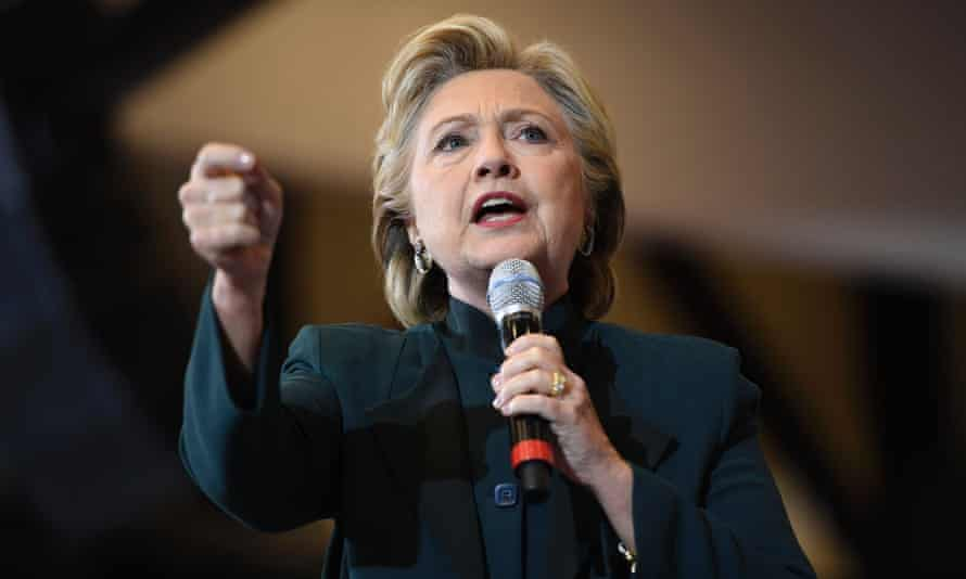 Democratic presidential nominee Hillary Clinton speaks at a rally in Cleveland, Ohio.