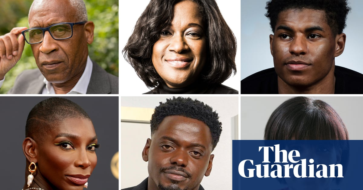 Jacky Wright and Marcus Rashford in Top 10 most powerful black Britons