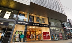 Burton and Dorothy Perkins shops at the Rock shopping centre in Bury, Greater Manchester.