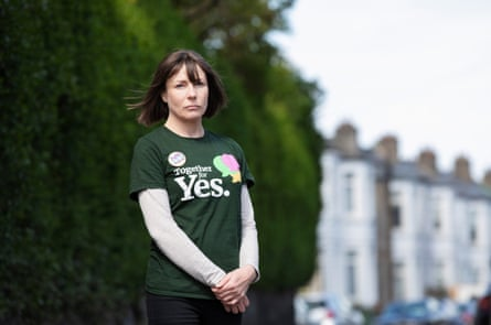 Christine O'Connor on the street where she lives in Ranelagh.