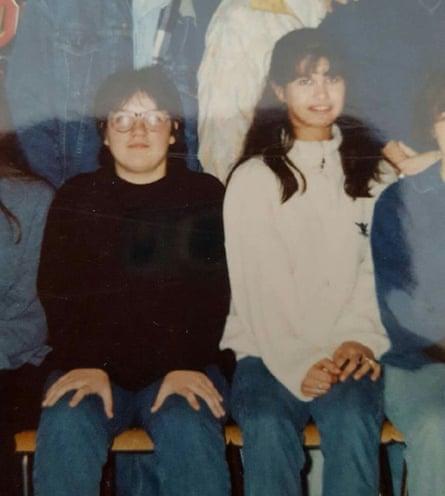 Gabrielle as a teenager when she was still slim