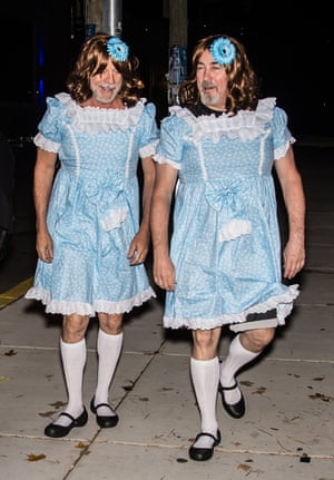 2017 Bruce Willis and assistant Stephen J. Eads as the twins from The Shining