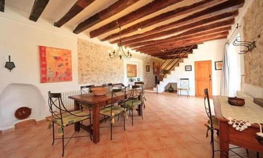 Dining room, Porto Pintoresco, near Pollença, northern Mallorca