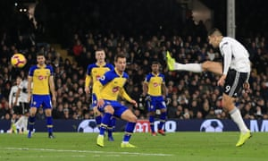 Aleksandar Mitrovic volleys the ball home to secure victory for Fulham with his second goal.