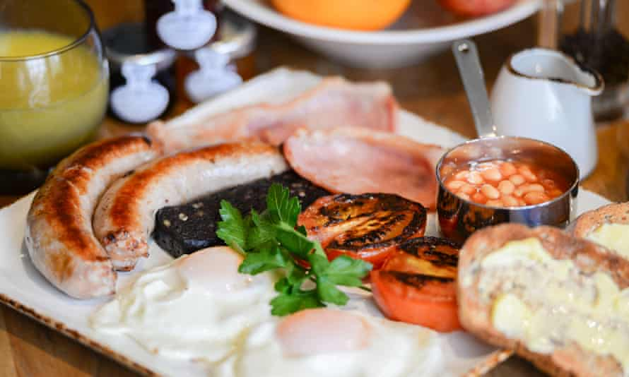 Sausages are a highlight of the Fence Gate Lodge's grilled breakfast
