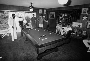 Gordy and Ales shooting pool in July 1977. Courtesy Barney Ales