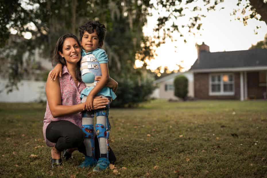 Aliya Anjarwalla and her son Ayden, who has life-limiting SMA type 2.