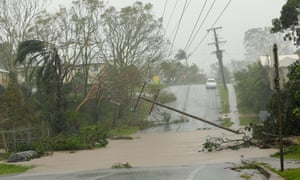 Flooding in Yeppoon after cyclone Marcia hit the coastal town in north Queensland on Friday.