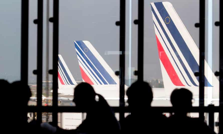 Air France planes at Paris-Orly airport.