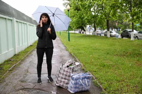 Tut.By journalist Katerina Borisevich is released from prison in Gomel, Belarus, 19 May 2021