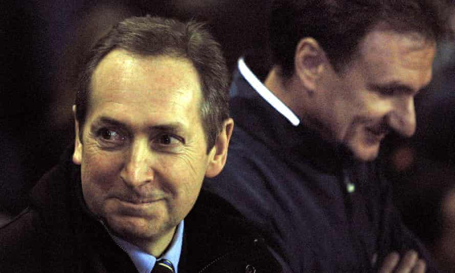 Houllier is all smiles after making returning to the dugout for the visit of Roma in March 2002 but, stood alongside assistant Phil Thompson, it was clear that heart surgery had taken a physical toll on the Frenchman.