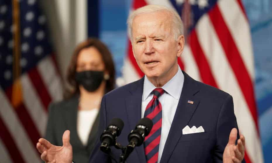 At the White House, Biden said: 'We have to show the world and, much more important, we have to show ourselves that democracy works, that we can come together on the big things.'