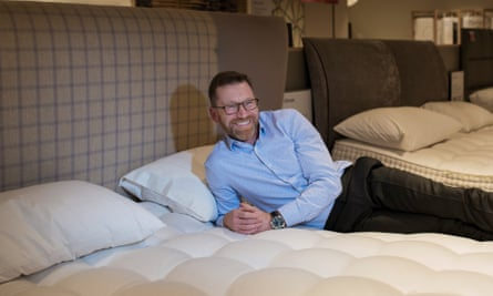Deane Halfpenny tries to find the perfect mattress.