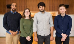 The Counted team at the Guardian US newsroom in Lower Manhattan. Photograph by Joshua Bright