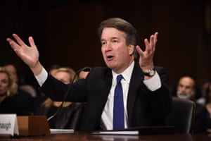 Kavanaugh stridently rejected the allegations of sexual abuse by Dr Christine Blasey Ford and two other women