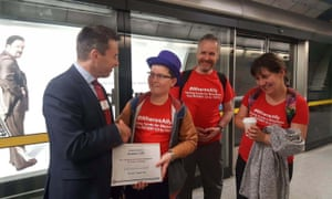 Alasdair Clift with Mark Wild at Southwark station