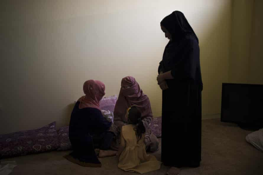 Women and their children in Pul-e-Charkhi prison in Kabul last week.