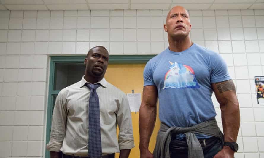 Giant of the silver screen … Dwayne Johnson (right) and Kevin Hart.