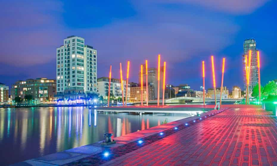 The Grand Canal dock development is a symbol of Celtic Tiger.