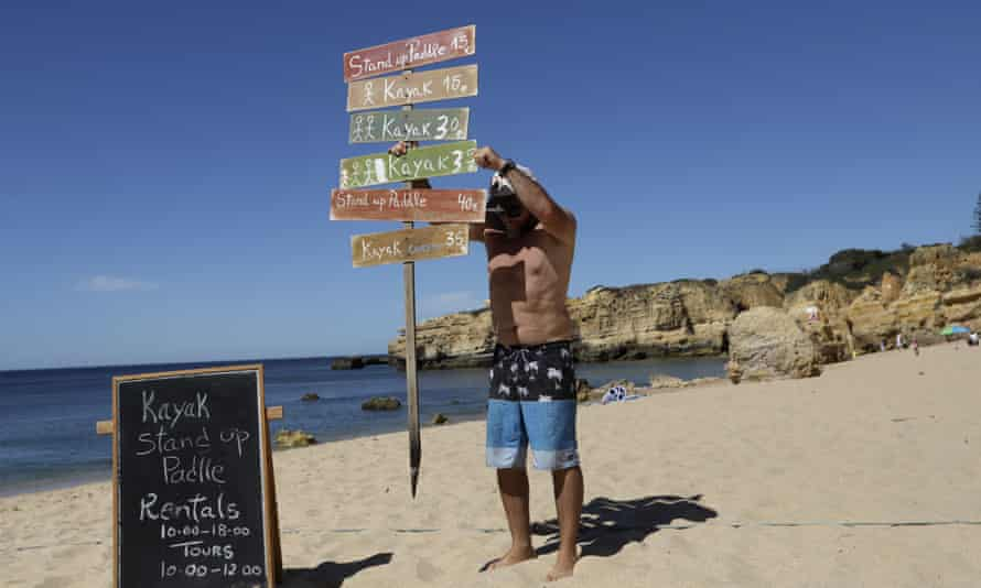 Sao Rafael beach, Albufeira, Algarve, Portugal