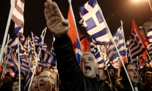 Golden Dawn supporters at a rally in Athens in 2014.