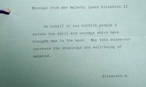 My How Time Flies Queen Elizabeth At 50 >> Queen S Message To The Moon On Show To Mark 50 Years Since